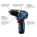 Bosch GSR12V-300B22 12V Max EC Brushless 3/8 In. Drill/Driver Kit