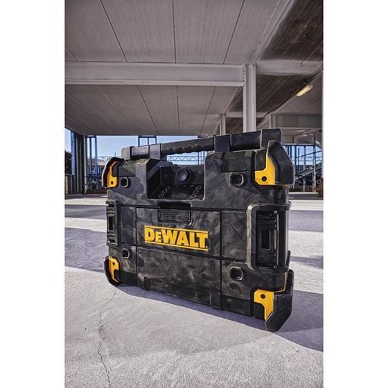 DEWALT DWST17510 TSTAK FLEXVOLT Radio//Charger Black//Yellow