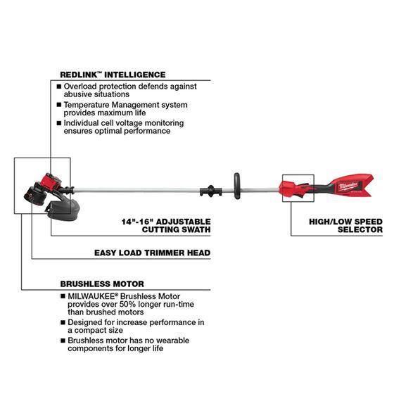 2828-21  - M18 Brushless String Trimmer Kit-4