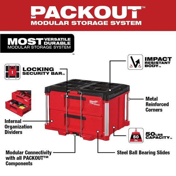 48-22-8442 - PACKOUT 2-Drawer Tool Box-4