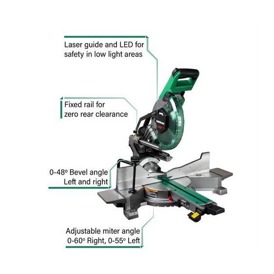 C10FSHCT 10? Sliding Dual Compound Miter Saw wit-2