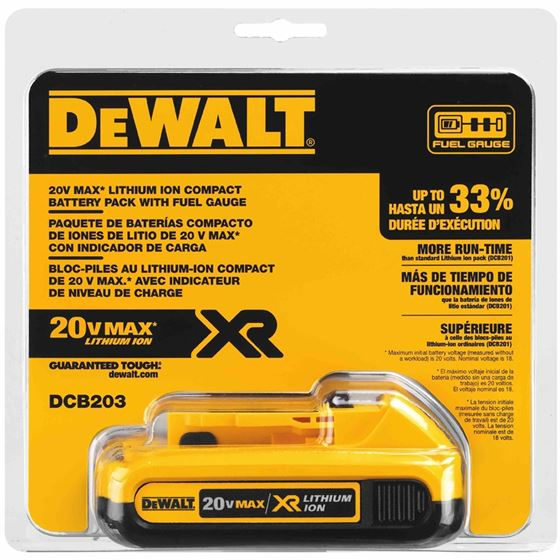 DCB203 20V MAX* Compact XR Lithium Ion Battery P-2