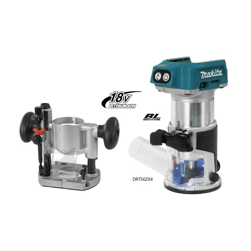 DRT50ZX4 Router with 196094-2 Plunge Base