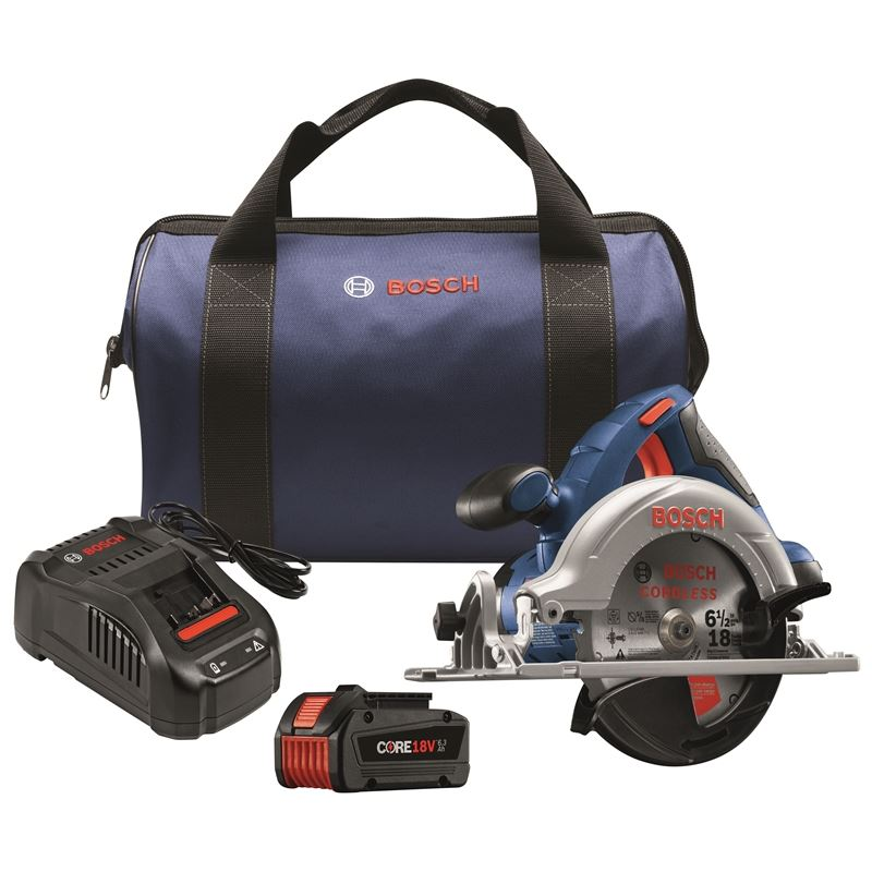 18V 6-1/2 In. Circular Saw Kit with CORE18V Batter