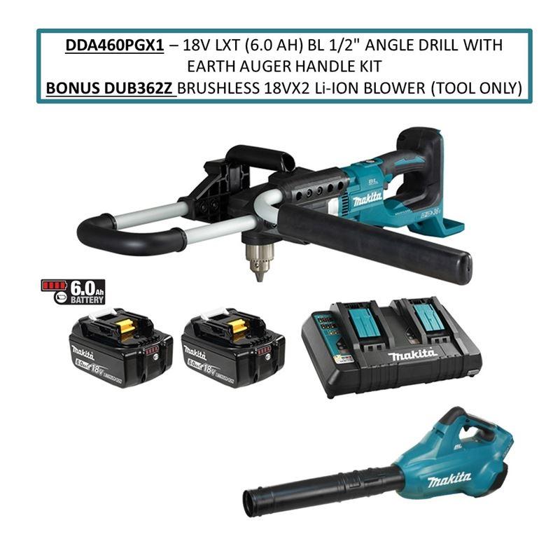 DDA460PGX1 18V LXT (6.0 Ah) BL 1/2in Angle Drill w