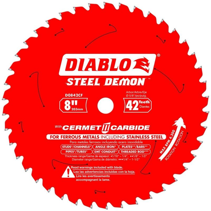 D0842CF 8 in. x 42 Tooth Cermet Metal and Stainles